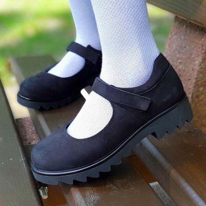 Туфлі Perlina 28PLATFNUBUK Чорний