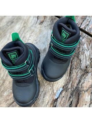 Черевики Minimen 12GREEN  Черный с зеленым