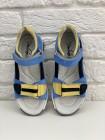 Босоніжки Perlina 112GOL21 Блакитний