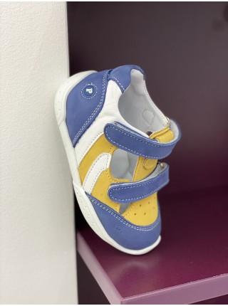 Босонiжки Perlina 60YELLOW Жовтий з синiм