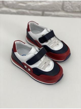 Кросівки Perlina 4RED Червоний з білим
