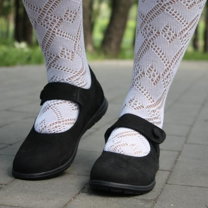 Туфлі Perlina  28NUBUK чорний