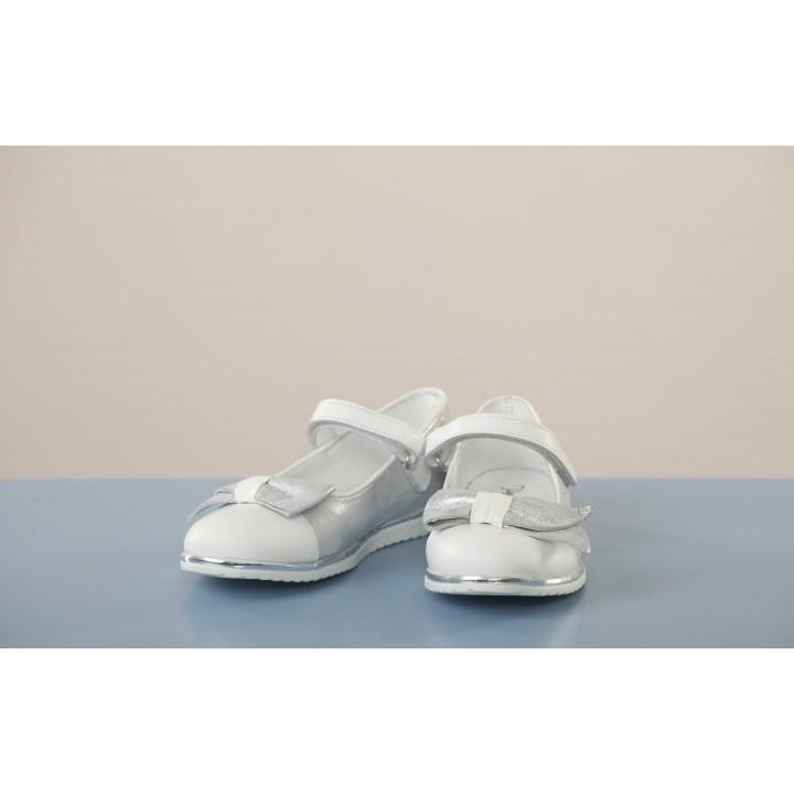 Туфлі Perlina 104BANT Білий з сріблом