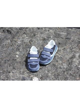 Кросівки Perlina 4GOLNUBUK  Блакитний нубук