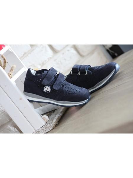 Кросівки Perlina 4.001 Синій нубук