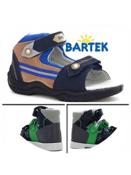 Босоніжки Bartek 21siniy синьо-коричневий