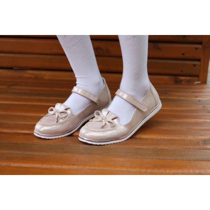 Туфлі Perlina 104pudra пудра